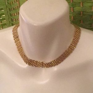 🌻Estate Costume High End Fun Goldtone Necklace 🌻
